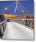 Path To The Zakim Bridge Metal Print