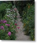 Pathway Of Monet's Garden Metal Print