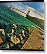 Pathway To The Golden Gate Metal Print
