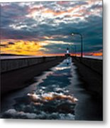 Pathway To The Sun Metal Print by Mary Amerman