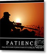 Patience Inspirational Quote Metal Print by Stocktrek Images
