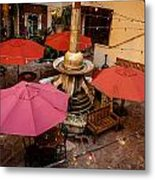 Patio Unbrellas Metal Print