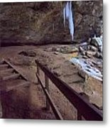 Pato To Ash Cave In Winter Metal Print