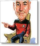 Patrick Stewart As Jean-luc Picard Metal Print
