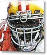 Patrick Willis - Force Metal Print