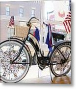 Patriotic Bicycle Metal Print