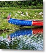Patriotic Canoe #1 Metal Print