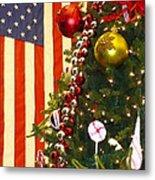 Patriotic Christmas Metal Print