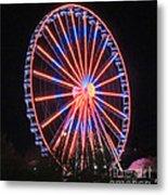 Patriotic Ferris Wheel Metal Print