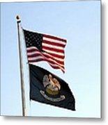 Patriotic Flags Metal Print