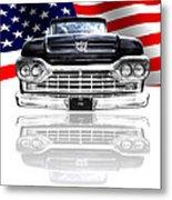 Patriotic Ford F100 1960 Metal Print