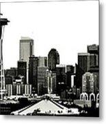 Patriotic Seattle Metal Print