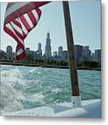 Patriotic Skyline Metal Print