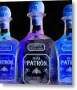 Patron Tequila Black Light Metal Print