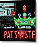 Pat's King Of Steaks Metal Print