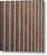 Patterend Brick Facade Metal Print