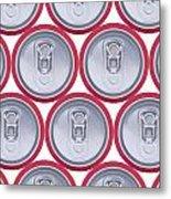 Pattern Drink Cans Metal Print
