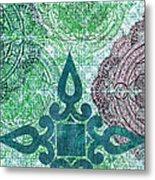 Pattern In Blue IIi Metal Print