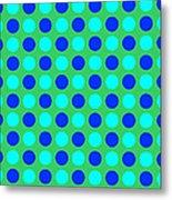 Pattern Of Circles Metal Print