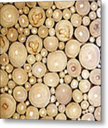 Pattern Of The Wood Pieces Metal Print
