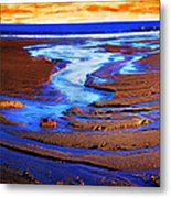 Patterns In The Sand Metal Print