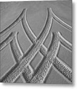 Patterns On Snow Metal Print