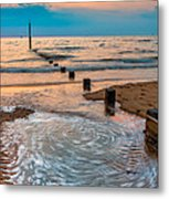Patterns On The Beach  Metal Print