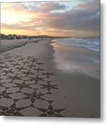 Patterns On Venice Beach Metal Print by Art Block Collections