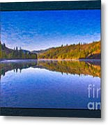 Patterson Lake Fall Morning Abstract Landscape Painting Metal Print