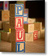Paul - Alphabet Blocks Metal Print