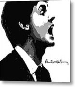 Paul Mccartney No.01 Metal Print by Caio Caldas