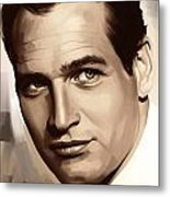 Paul Newman Artwork 1 Metal Print