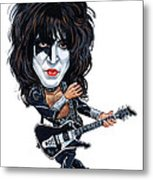 Paul Stanley Metal Print by Art