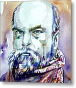 Paul Verlaine - Watercolor Portrait.1 Metal Print