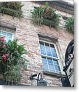 Paula Deen Savannah Restaurant Flower Boxes Metal Print by Kathy Fornal
