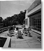 Paved Terrace At The Residence Of Mr. And Mrs Metal Print
