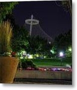 Pavillion At Night Metal Print by Dan Quam