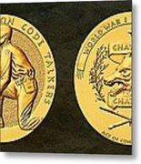 Pawnee Nation Tribe Code Talkers Bronze Medal Art Metal Print