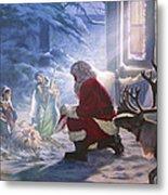 Santa Paying Homage Metal Print