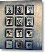 Payphone Keypad Metal Print