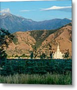 Payson Temple Mountains Metal Print