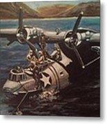 Pby 5 Loading At Pearl Harbor Metal Print