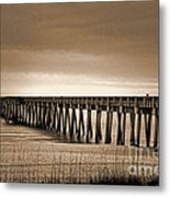 Pc Beach Pier Metal Print