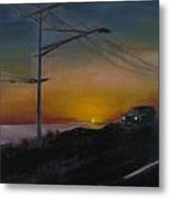Pch At Night Metal Print by Lindsay Frost