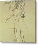 Girl Dancer At The Barre Metal Print