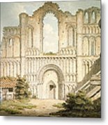 Pd.56-1958 West Front Of Castle Acre Metal Print