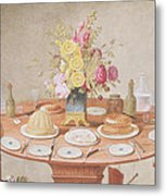 Pd.869-1973 Still Life With A Vase Metal Print