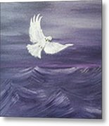 Peace Amidst The Storm Metal Print