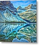 Peace At Bow Lake Metal Print