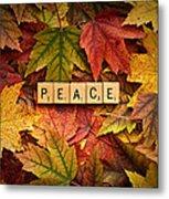 Peace-autumn Metal Print